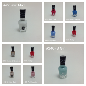 nail polish collage